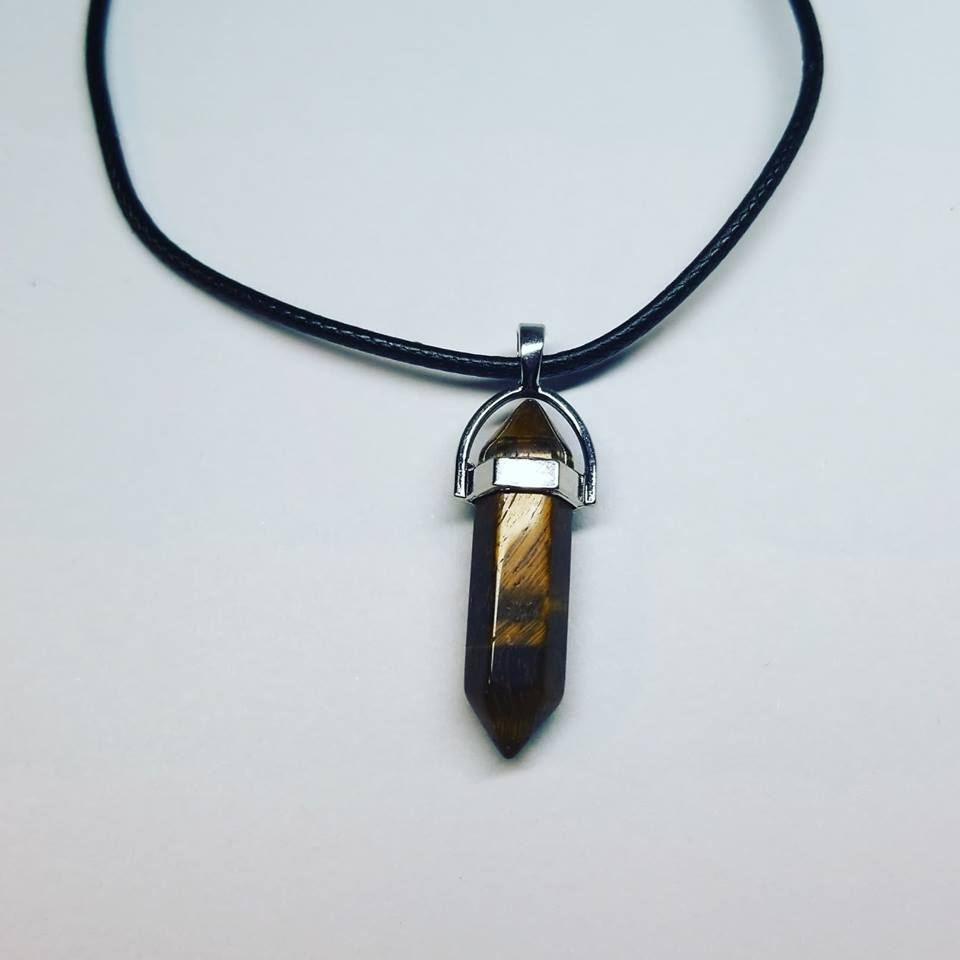 Tiger's Eye Stone Necklace.