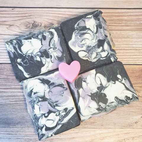 Charcoal Swirl Artisan Soap