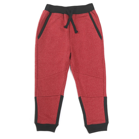 Bonfire Red French Terry Jogger