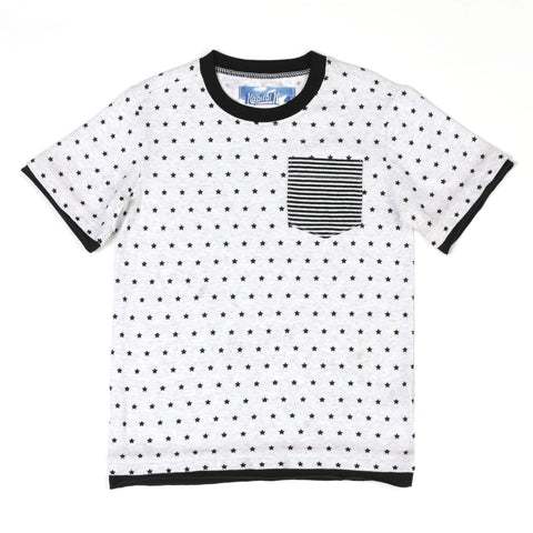 Star Printed Pocket Tee