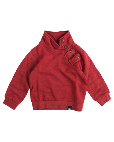 Jolly Red Asymmetrical Zip Sweatshirt