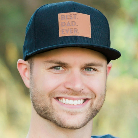 Best Dad Ever Snapback Hat in Black