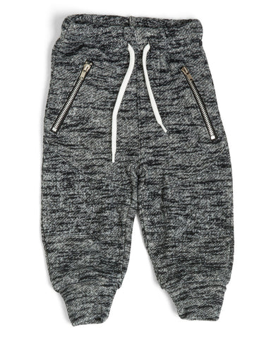 Moto Joggers - Heather Black