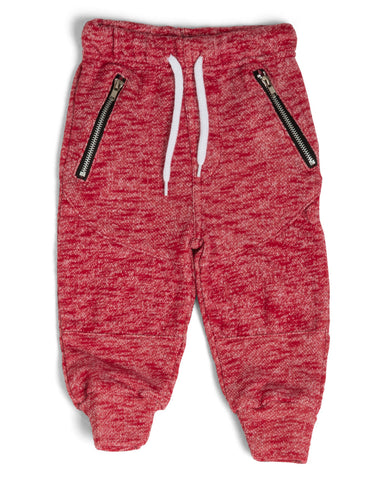Moto Joggers - Heather Red
