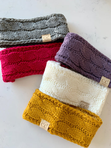 Infant/Toddler Cable Knit Head Wrap