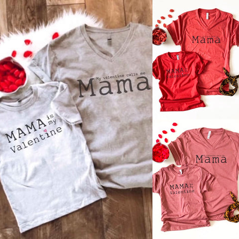 """My Valentine"" - Mommy & Me Tees (Multiple Colors)"