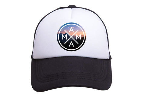 Mama X Trucker Hat- Mountain Sunset