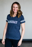 Gameday Varsity Tee in Navy- Women's