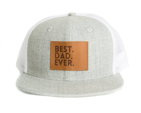 Best Dad Ever Snapback Hat in Gray/White