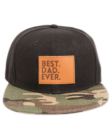 Best Dad Ever Snapback Hat in Black & Camo