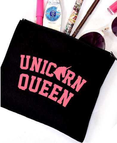 Unicorn Queen Canvas Pouch