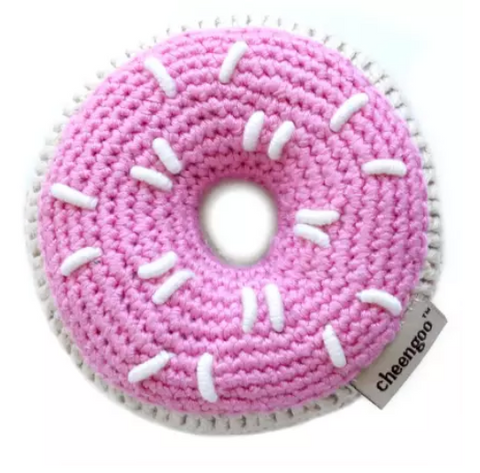 Donut Hand Crocheted Rattle