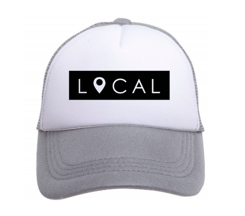Local Trucker Hat in Gray