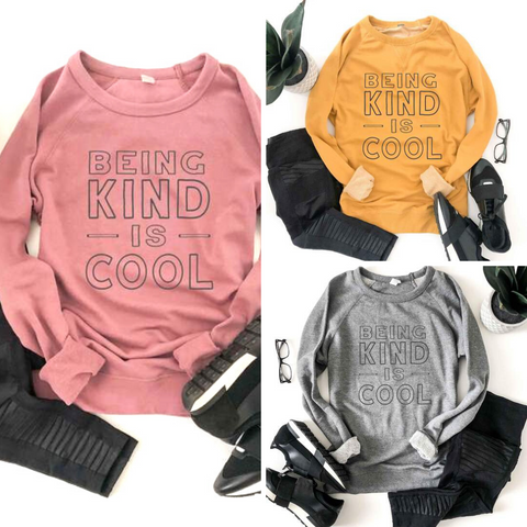 Being Kind is Cool - French Terry Raglan