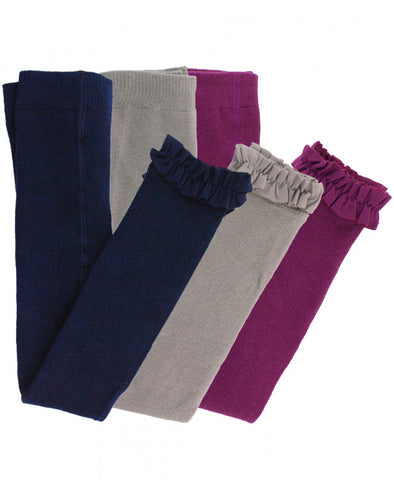 Navy/Plum/Gray Footless Tights