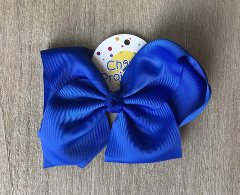 "Royal Blue 8"" Hair Bow Clip"