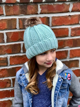 Fuzzy Lined Pom Beanies (Multiple Colors)