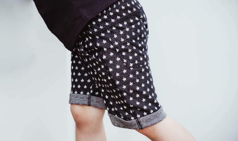 "Rock ""Star"" Shorts in Black (12 Months)"