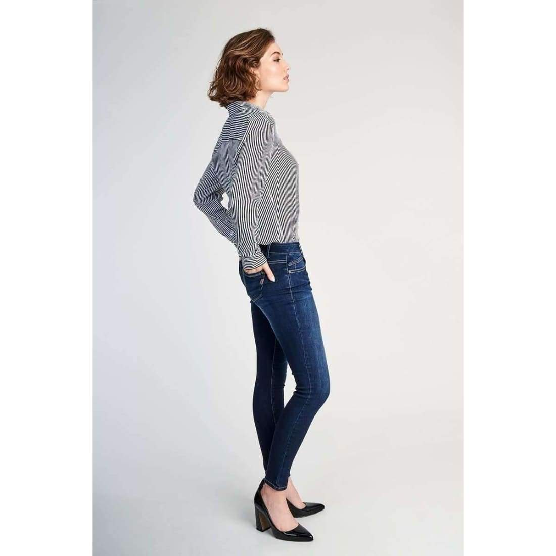 1822 Denim Ladies Dark Ankle Skinny Jeans In Raquel Jeans