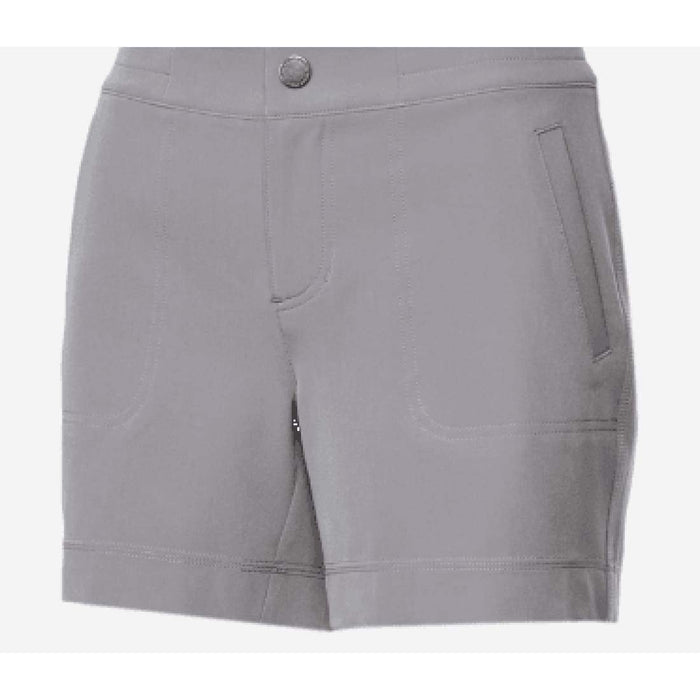 32 Degrees Cool Shorts Womens Soft Comfort Stretch 6 / Grey Shorts