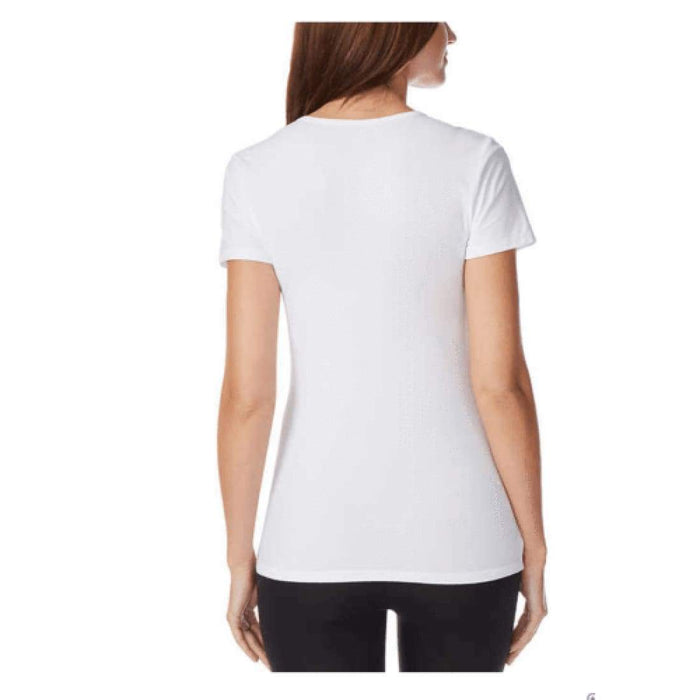 32 Degrees Cool Womens Short Sleeve Scoop Neck Tee 2 Pack (White) Tops & Blouses