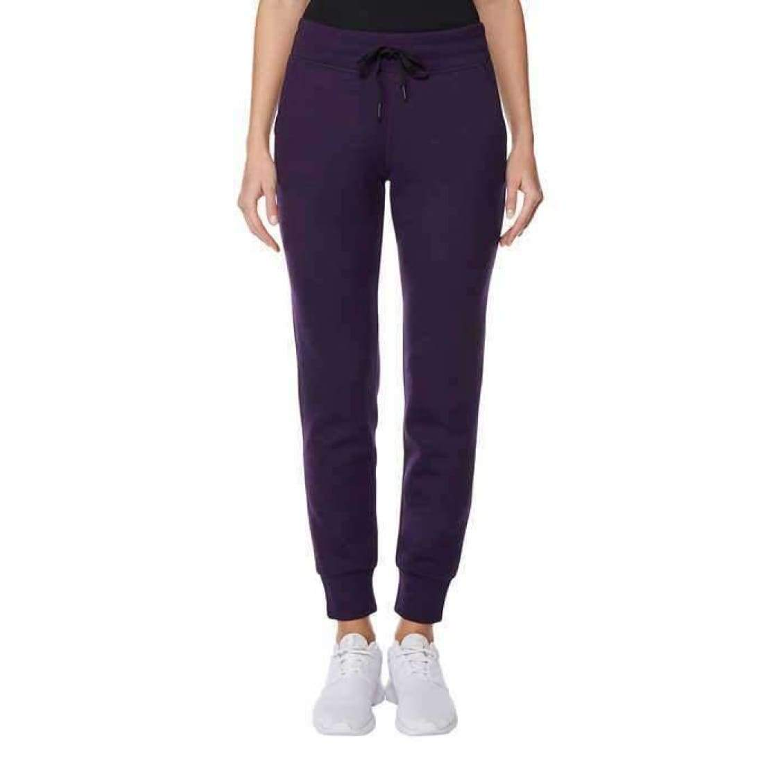 32 Degrees Ladies Tech Fleece Jogger Pant S-Purple Pants & Shorts