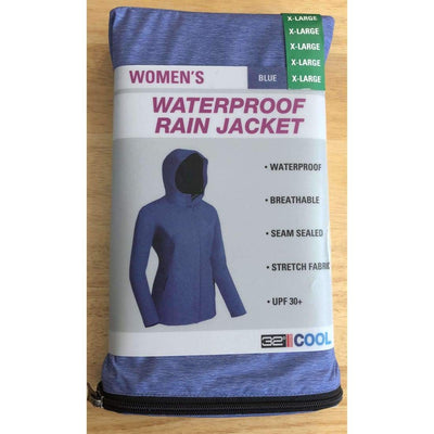 32 Degrees Womens Packable Rain Jacket Outerwear