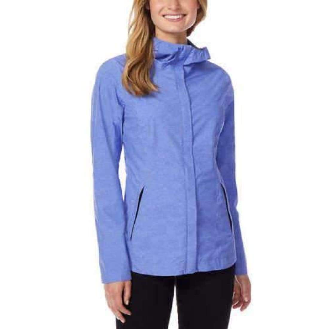32 Degrees Womens Packable Rain Jacket M / Blue Outerwear