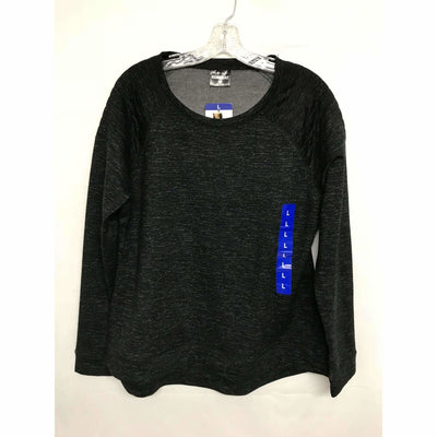 32 Degrees Womens Soft Fleece Top S / Black Space Dye Tops & Blouses