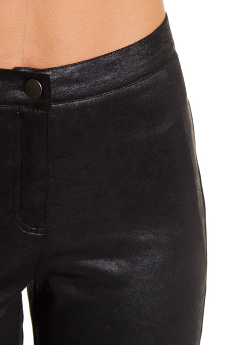 Angie Ladies' Faux Leather Moto Front Zip Legging