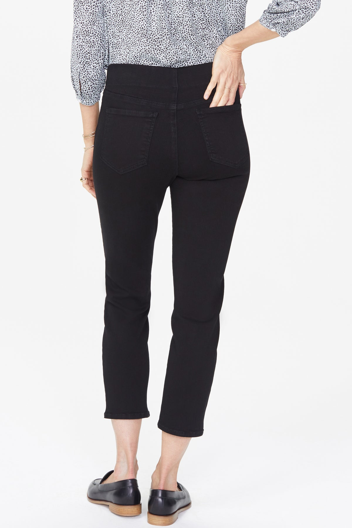 NYDJ Skinny Ankle Pull-On Jeans In Sure Stretch® Denim Color Black