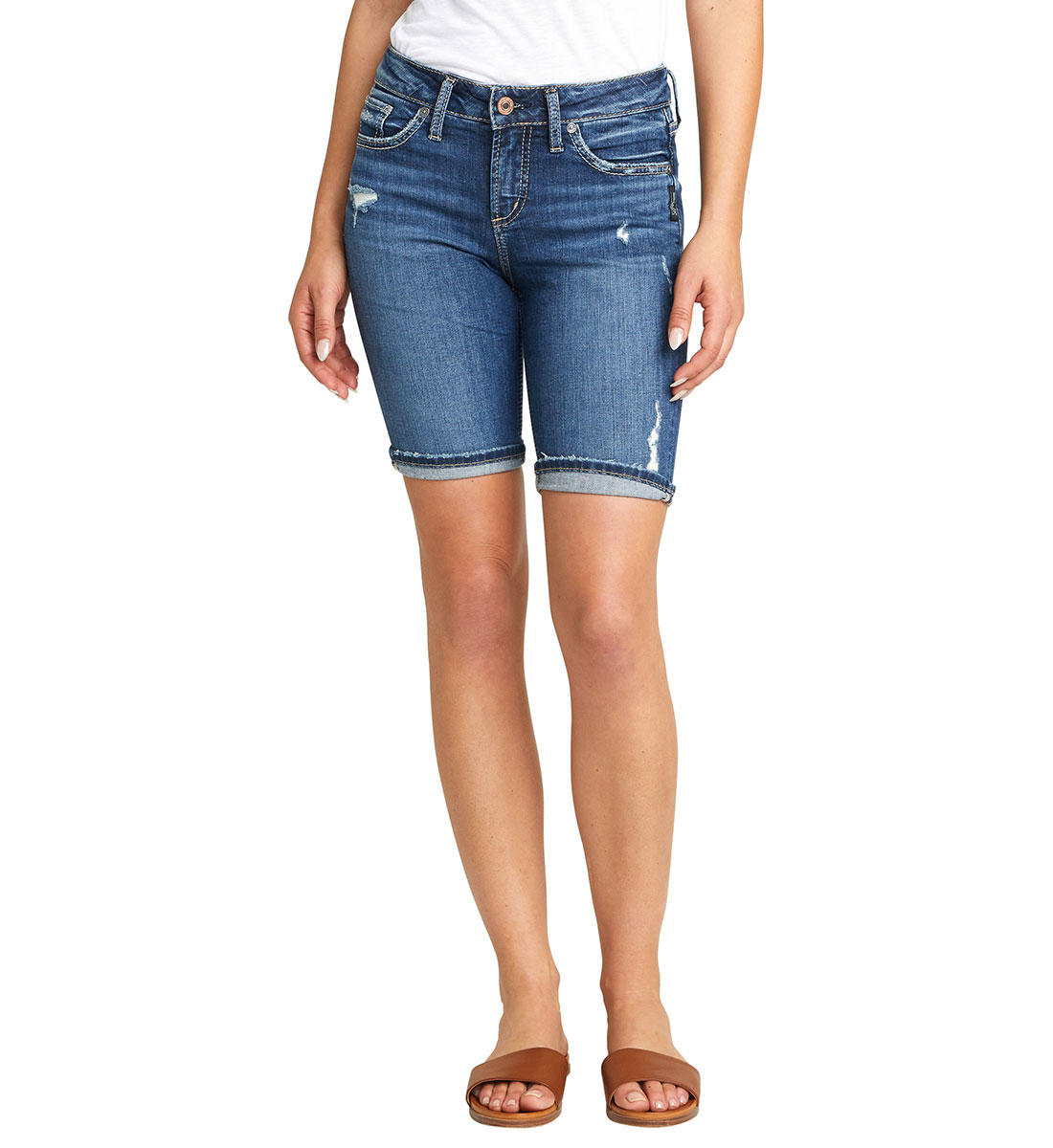 Silver Jeans CO. Ladies' Mid Rise SUKI Bermuda Short