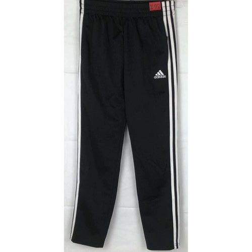 Adidas Boys Tapered Leg 3 Stripe Athletic Pants S / Black Athletic Apparel