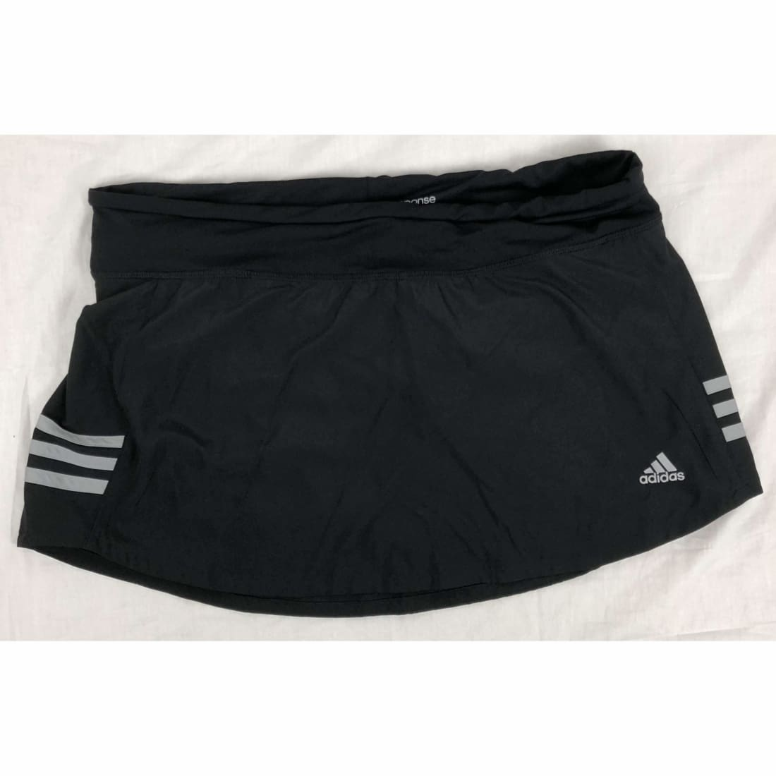 Adidas Womens Response Climalite Skort M / White Stripe Athletic Apparel