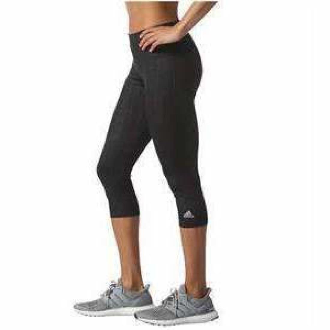 Adidas Womens Ultimate Fit Embossed Climalite 3/4 Tight S / Black Athletic Apparel