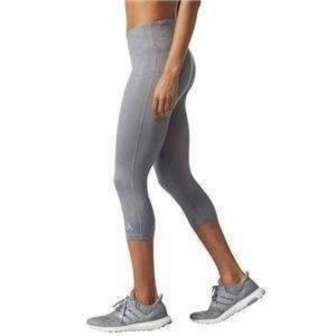 Adidas Womens Ultimate Fit Embossed Climalite 3/4 Tight S / Grey Athletic Apparel