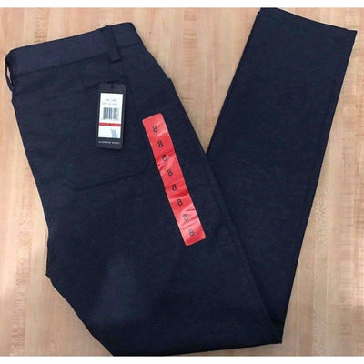 Andrew Marc Womens Stretch Ponte Pant 2 / Navy Twill Jeans