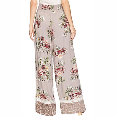 Angie Ladies Wide Leg Pants With Tassel Pants