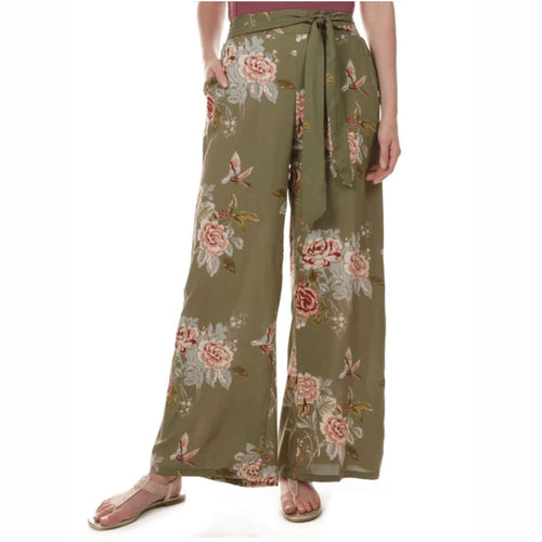 Angie Ladies Wide Leg Pants With Waist Tie S Pants