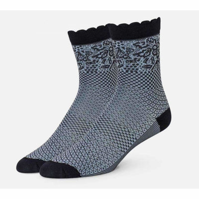 B.ella Emmeline Womens Pattern Ankle Sock Made In Usa One Size / Navy Socks