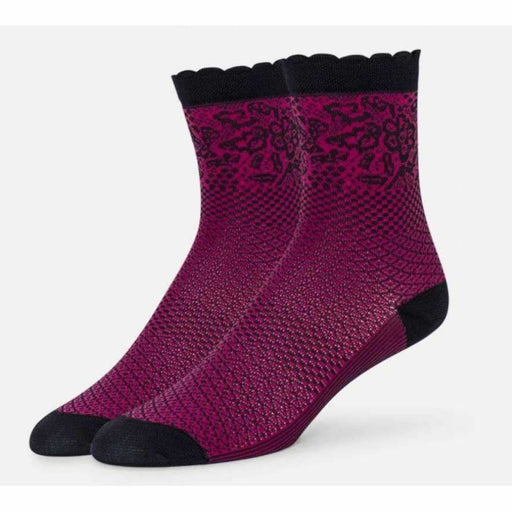 B.ella Emmeline Womens Pattern Ankle Sock Made In Usa One Size / Rose Socks