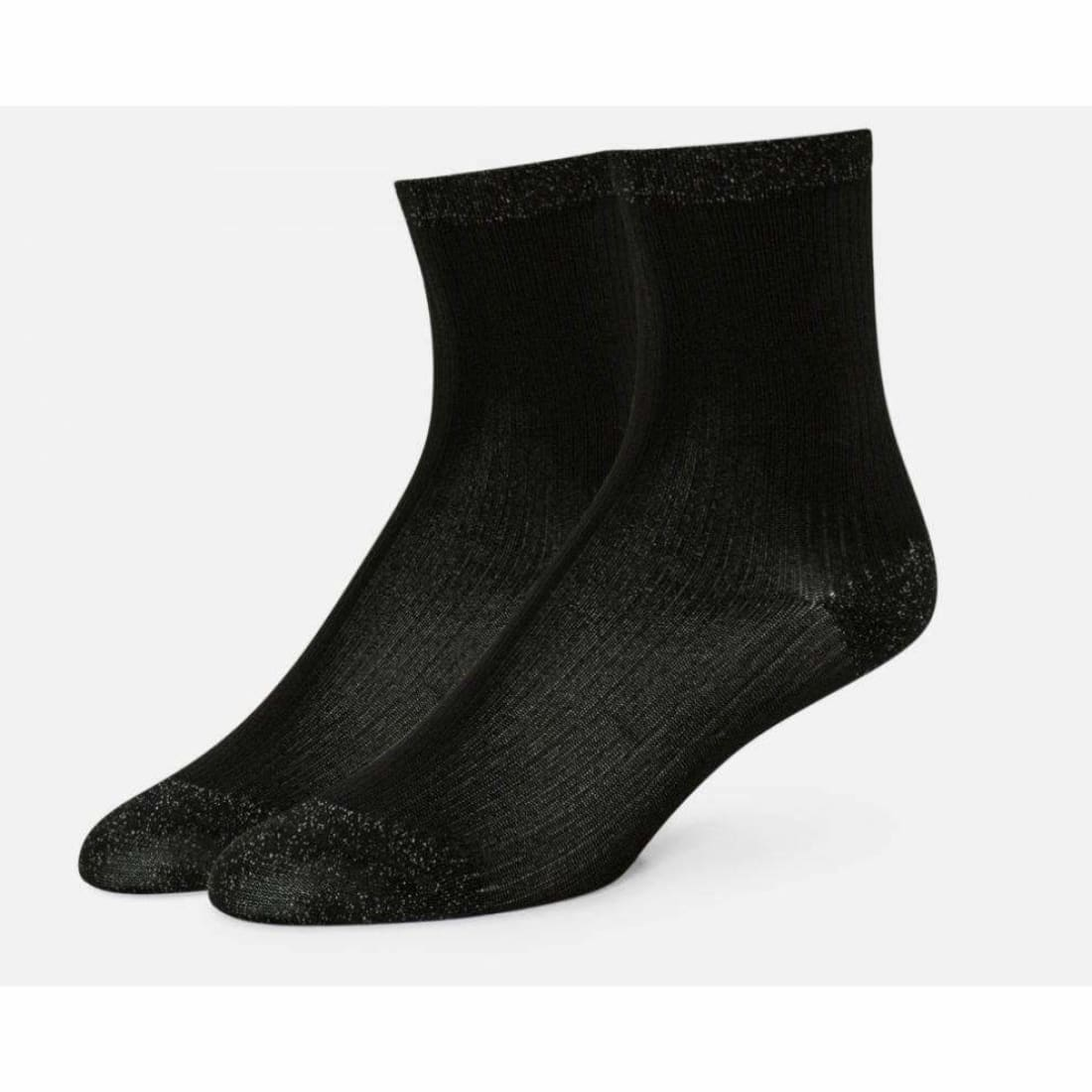 B.ella Womens Starr Sparkle Ankle Sock Made In Usa One Size / Black Socks