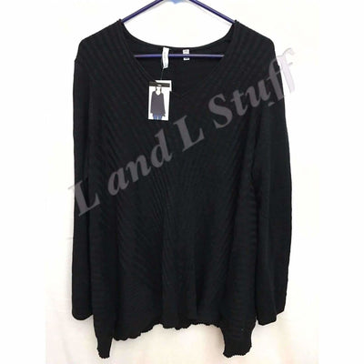 Beatrix Ost V-Neck Thin Knit Womens Pullover Sweater Sweaters