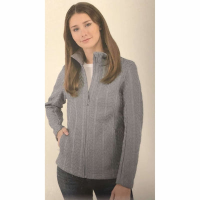 Boston Traders Ladies Cable Knit Sweater Jacket Outerwear