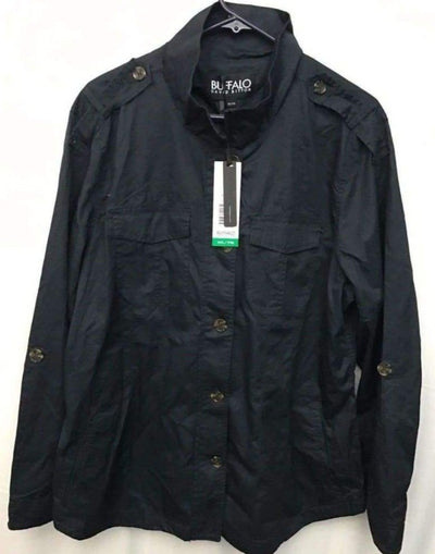 Buffalo David Bitton Lightweight Military Jacket Womens S / Navy Outerwear