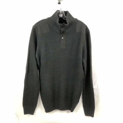 Buffalo David Bitton Mens 1/4 Zip Knit Sweater M / Charcoal Sweaters