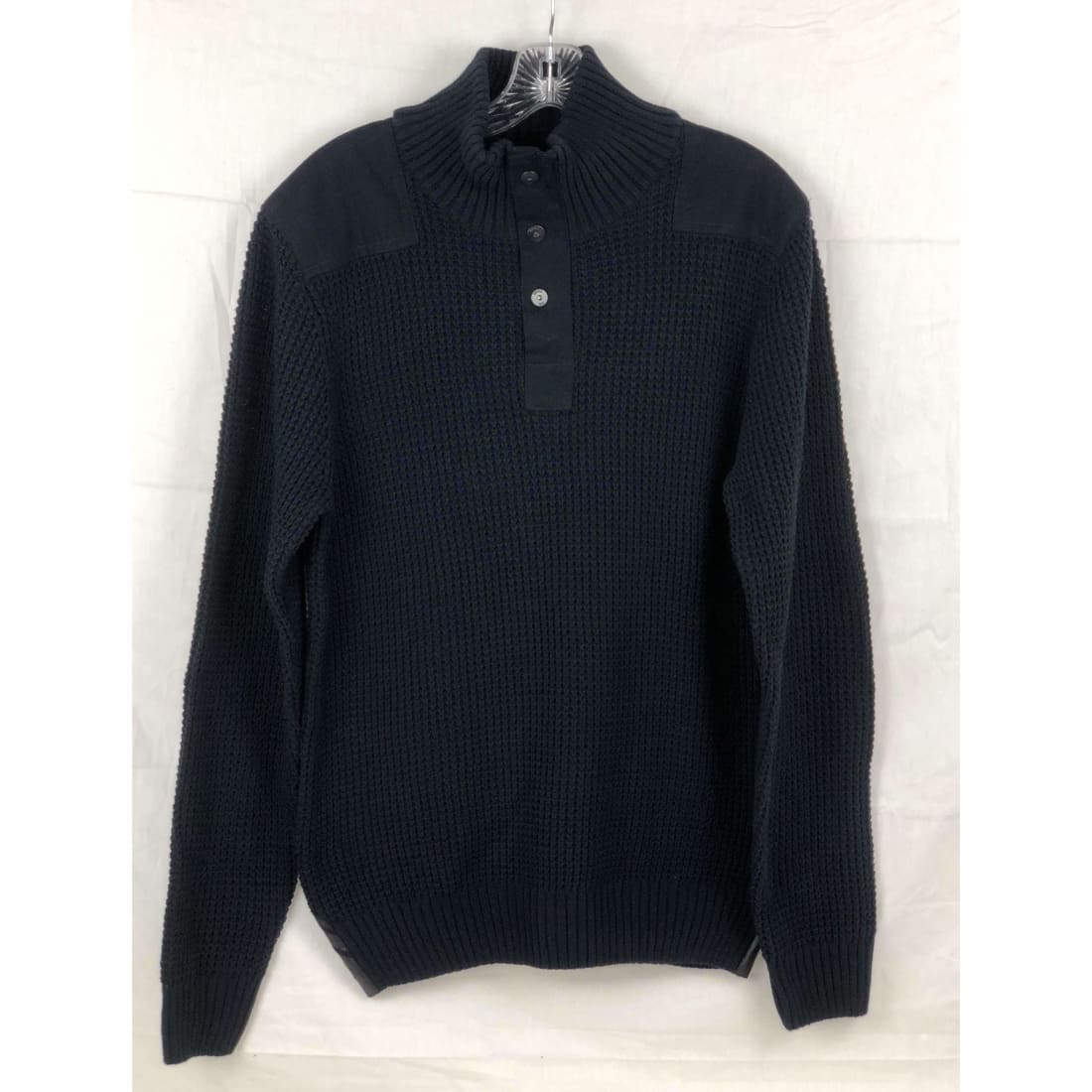 Buffalo David Bitton Mens 1/4 Zip Knit Sweater M / Navy Sweaters