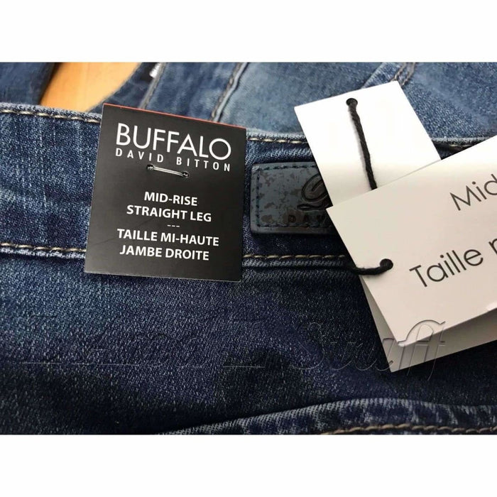 Buffalo David Bitton Misha Womens Mid-Rise Straight Leg Stretch Jeans
