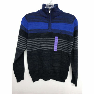 Calvin Klein Boys 1/4 Zip Knit Pullover Sweater 100% Cotton M / 43 Medblue Sweaters