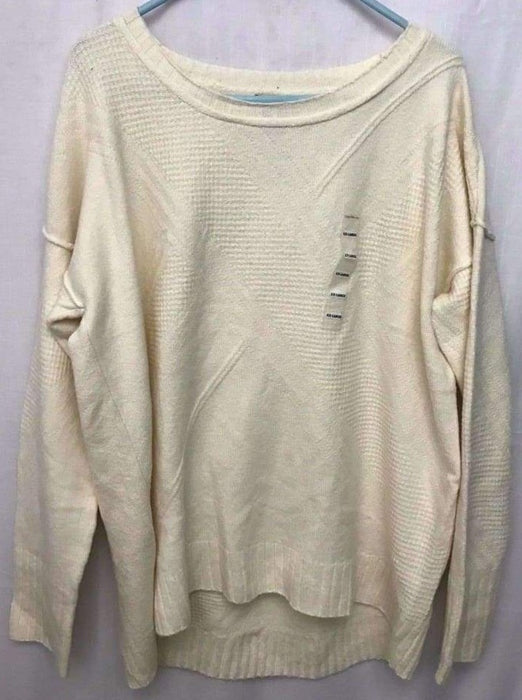Calvin Klein Crew Neck Pullover Sweater Womens 2Xl / Cream Sweaters